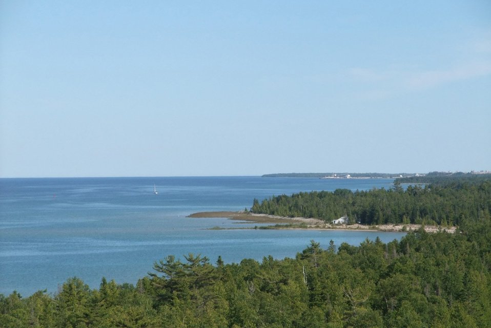 Lake Huron shoreline from Presque Isle lighthouse