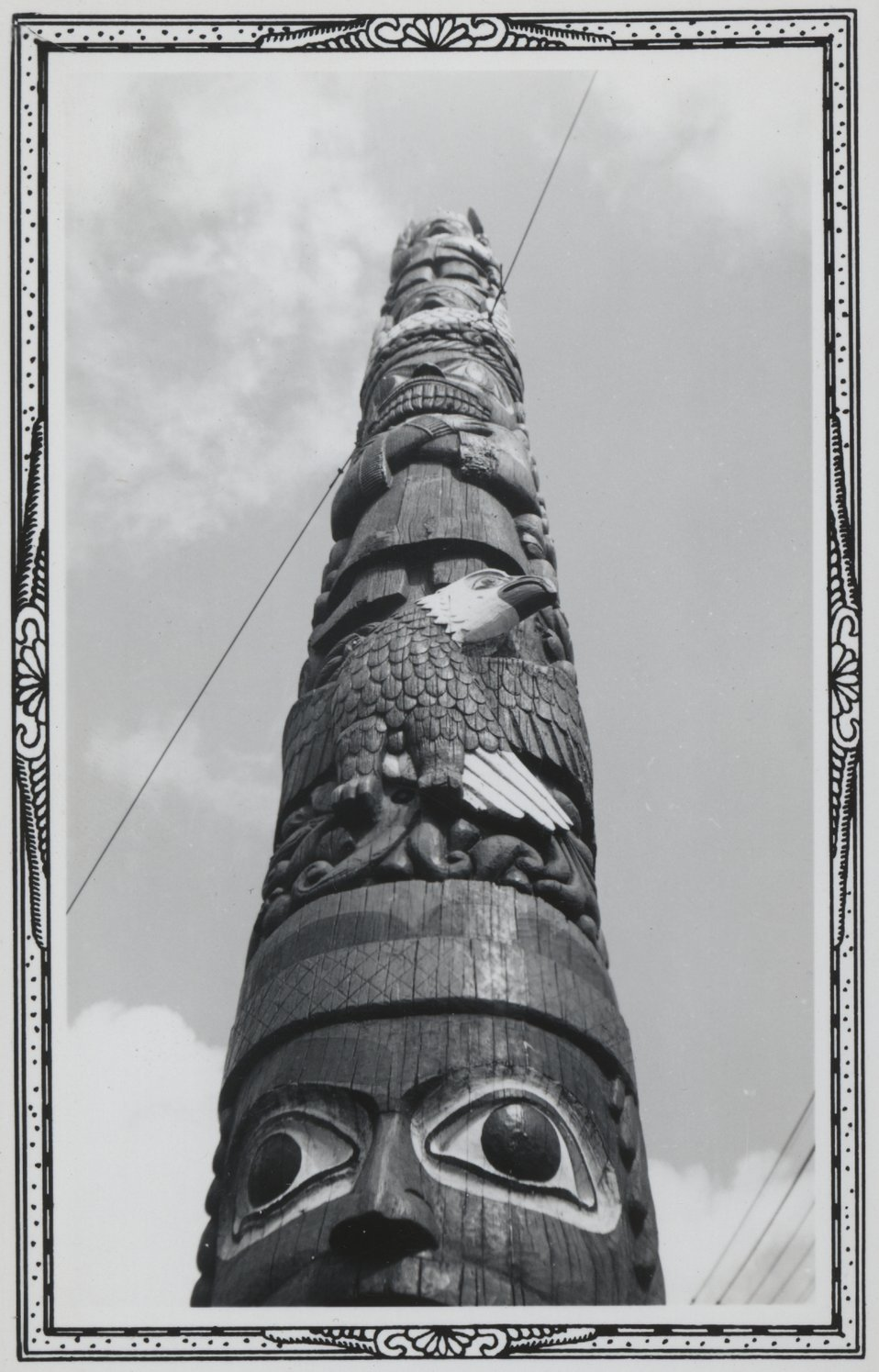 A beautiful totem pole at Ketchikan.