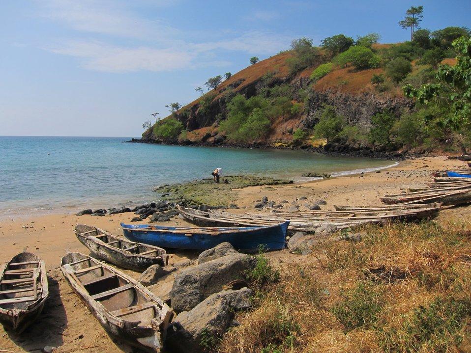 Sao Tomean artisanal fishing boats