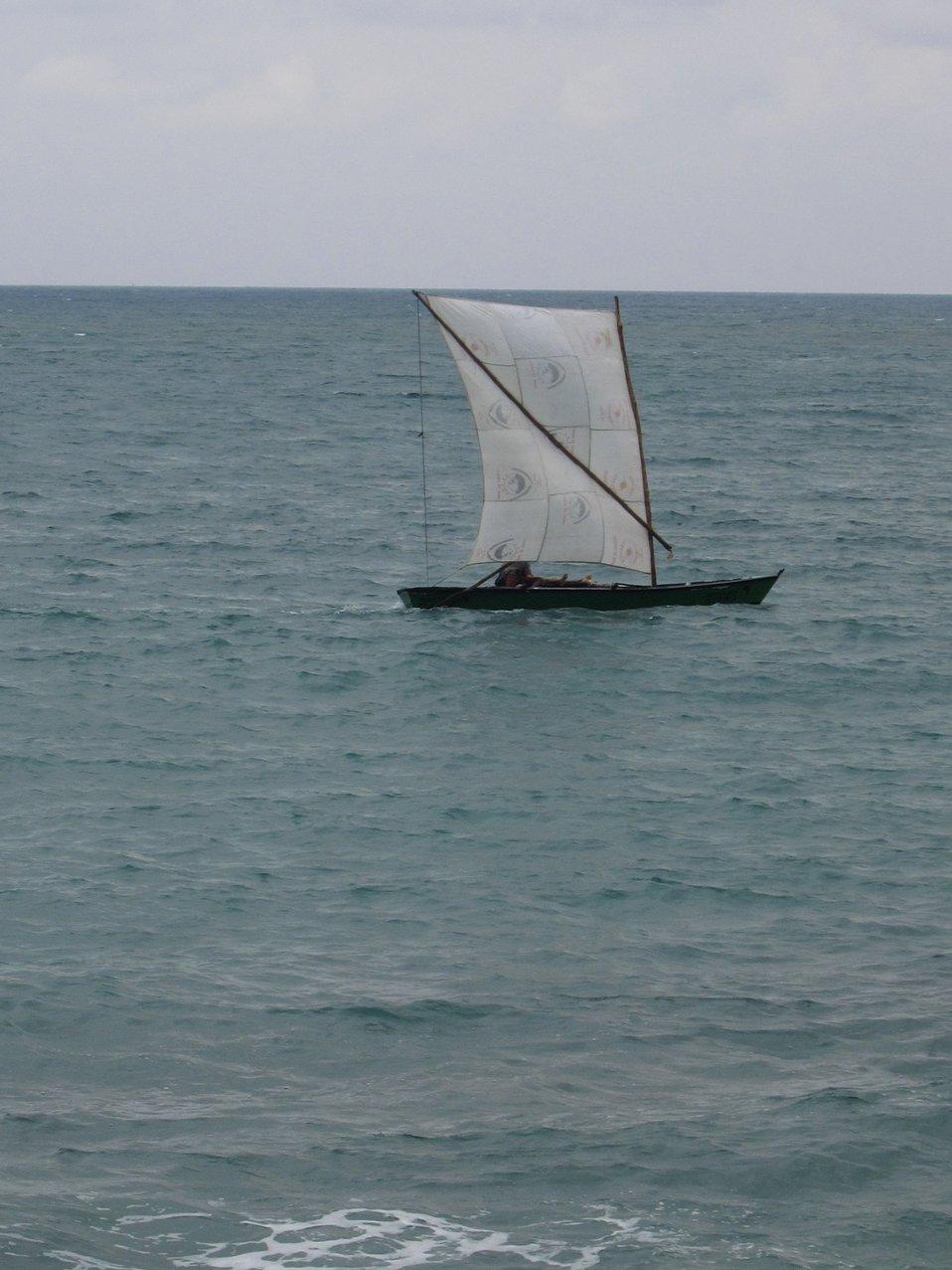 Sao Tomean artisanal fishing boat