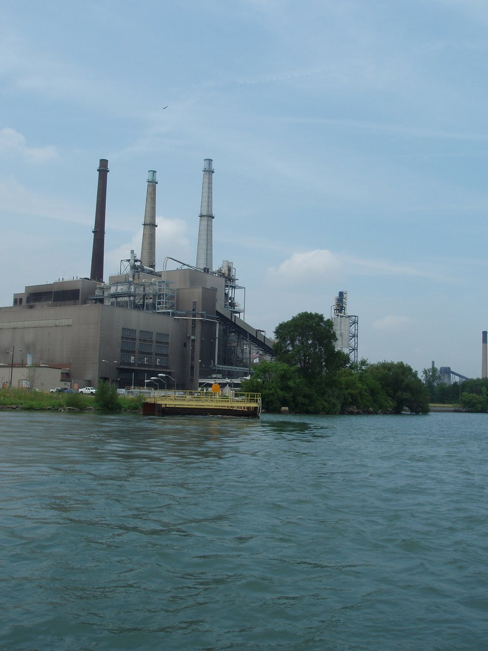 Industry along the Detroit River