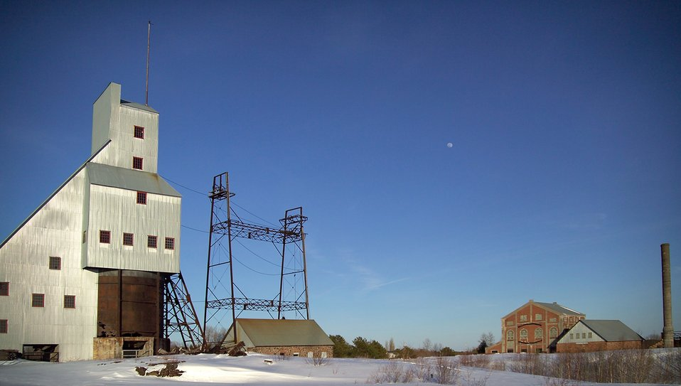Quincy Copper Mine. Keweenaw Peninsula, Lake Superior