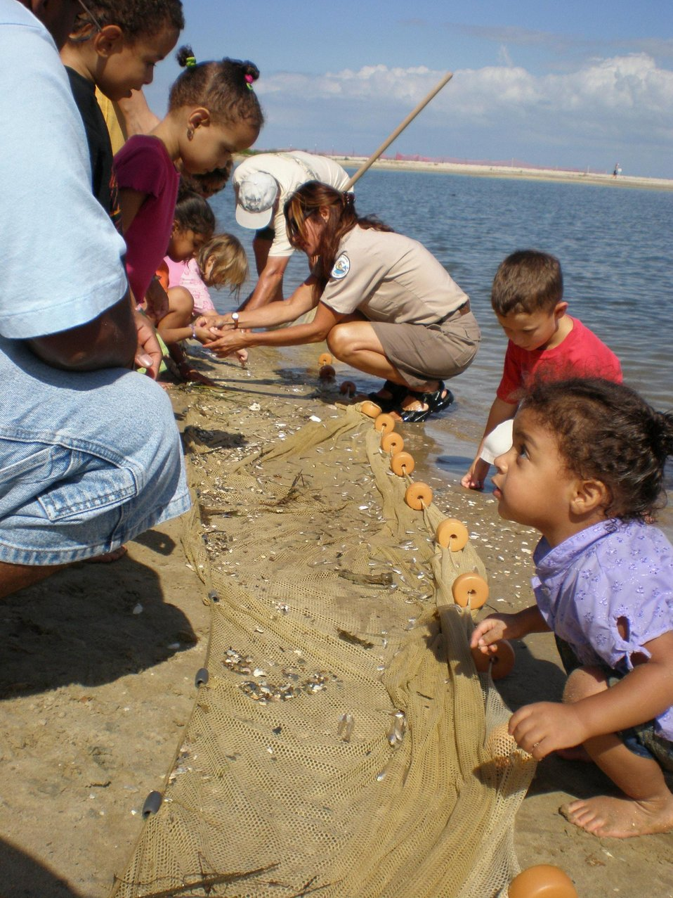 Children learn about the treasures of Chesapeake Bay at Flag Pond Nature Park.