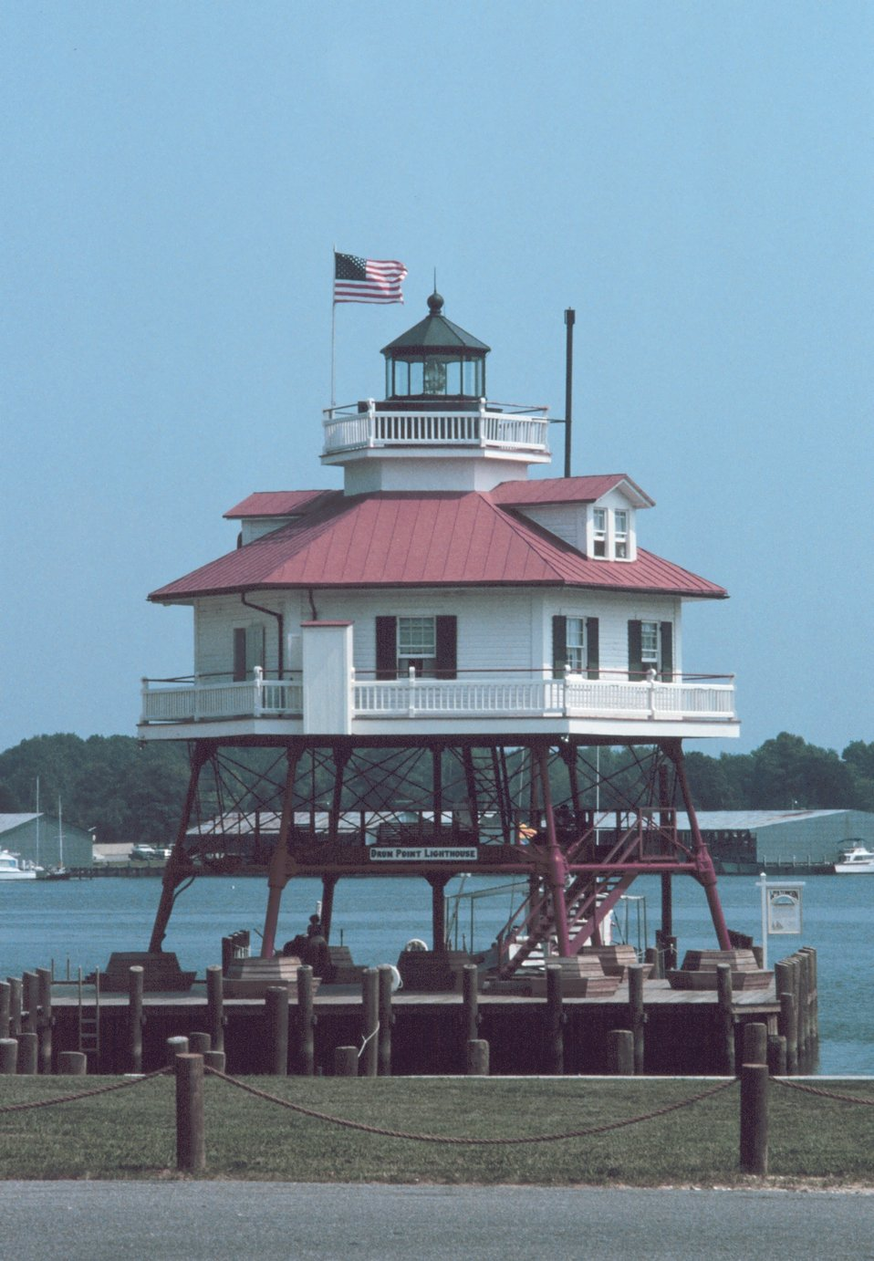 Drum Point Lighthouse, now a museum, stood watch at the mouth of the Patuxent River.