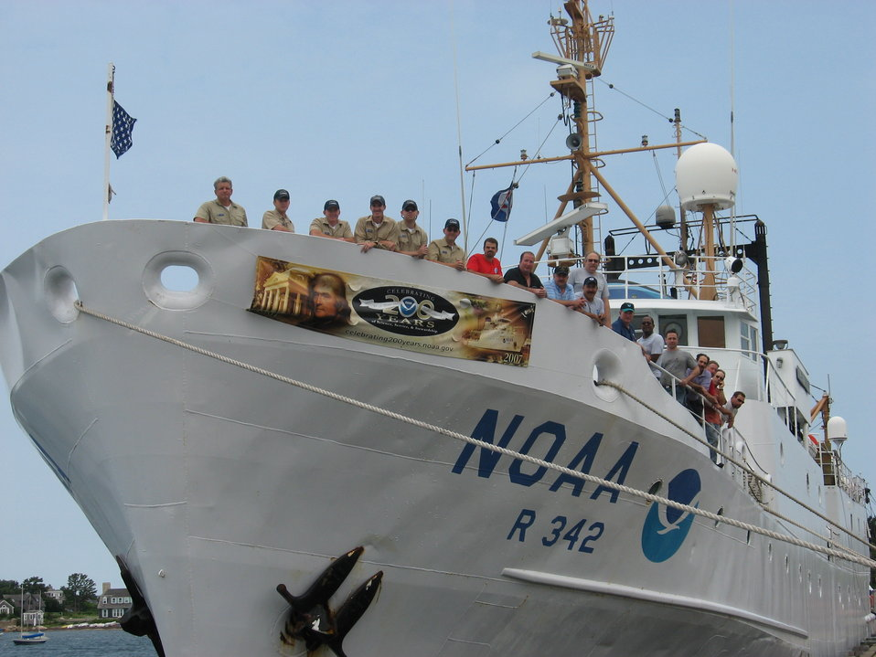 The Officers and Crew of NOAA Ship ALBATROSS IV wish all of NOAA a happy 200 Years of Science and Service to our Nation. The ALBATROSS provides operational support to the Northeast Fisheries Science Center as a fisheries research platform.  Master Stephe
