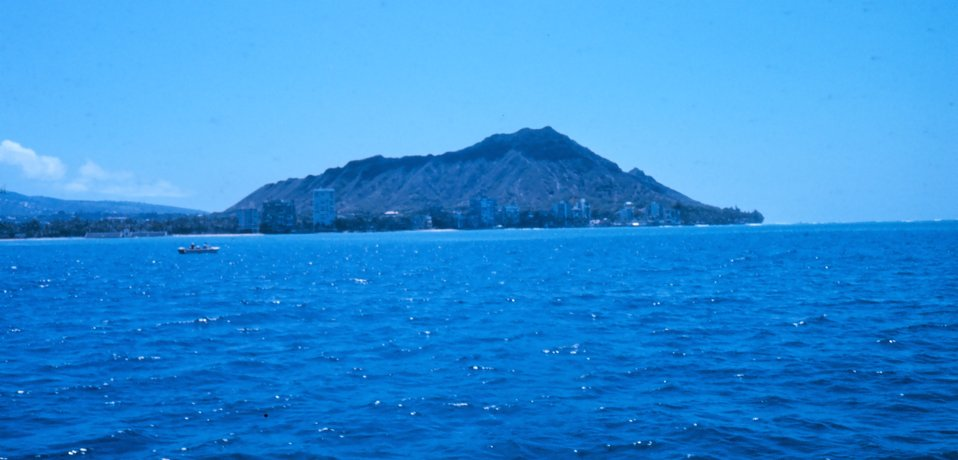 Iconic Diamondhead in the distance