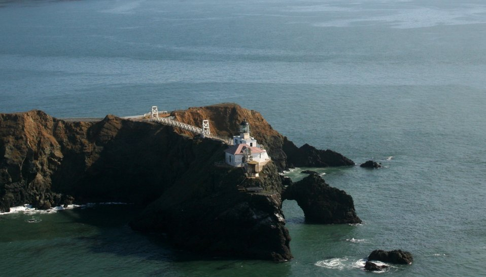 The Point Bonita Lighthouse at the northern entrance to the Golden Gate.