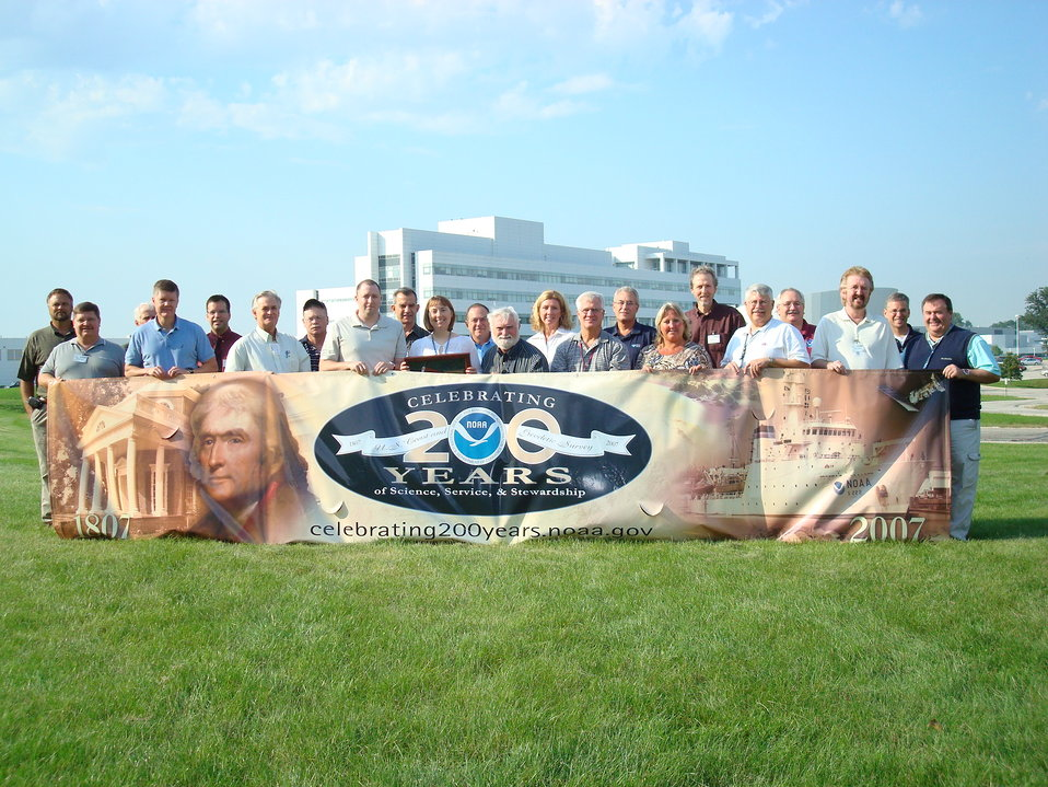 Greetings from Chicago! The Nation's Port Meteorological Officers gathered at the Argonne National Laboratory to discuss the state of the U.S. Voluntary  Observing Ship Project and commemorate NOAA's 200th Celebration. NWS Cline Award recipient Amy See
