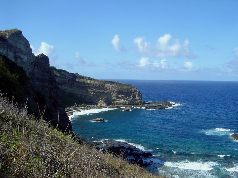 Coast near Forbidden Island, Saipan.