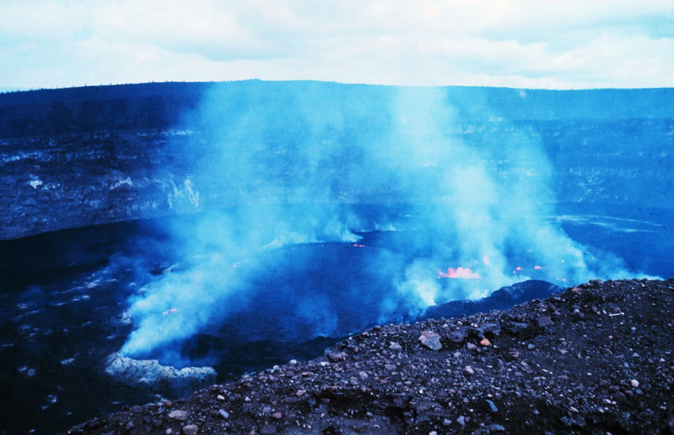 Halemaumau firepit during an active phase.