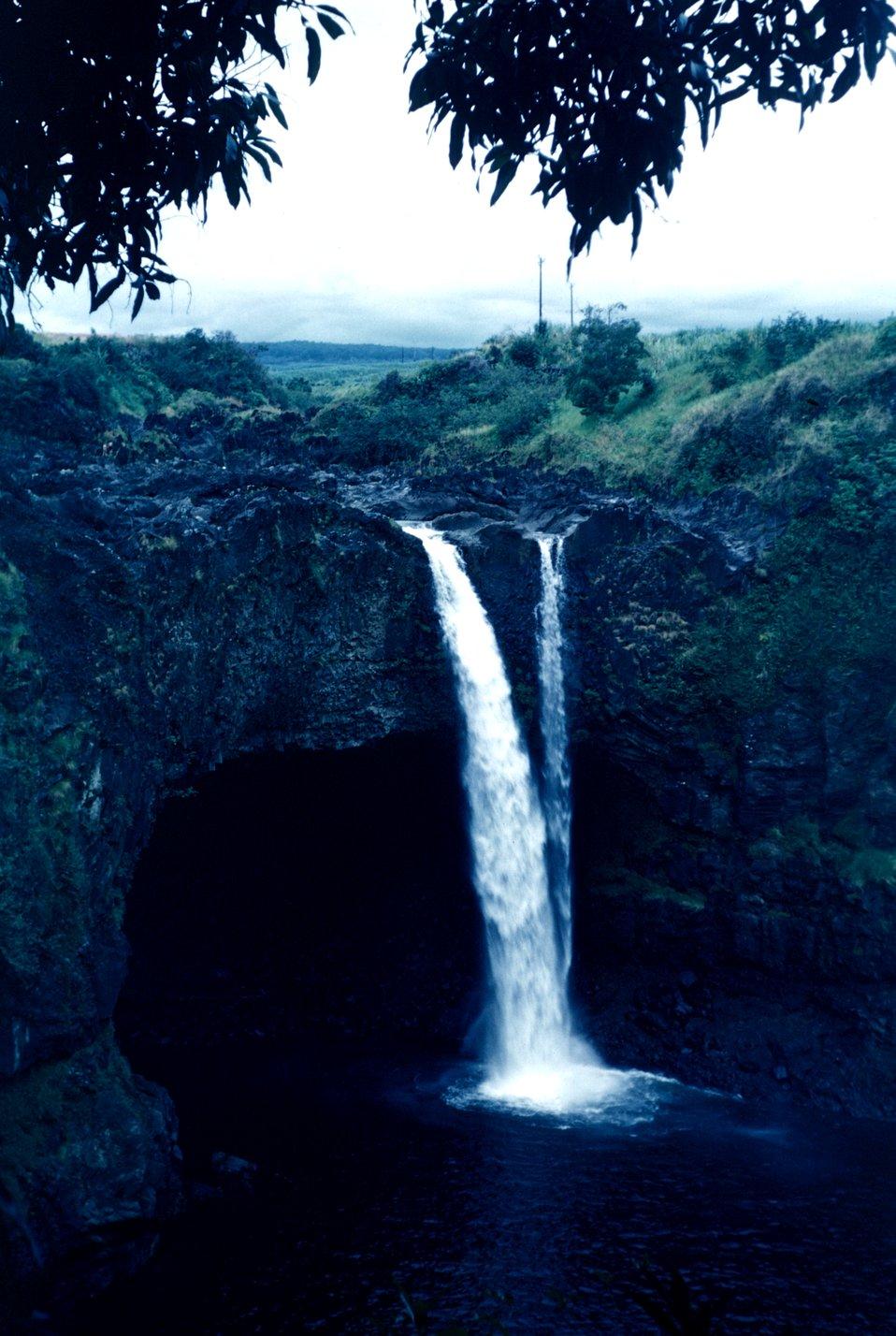 A Hawaiian waterfall.