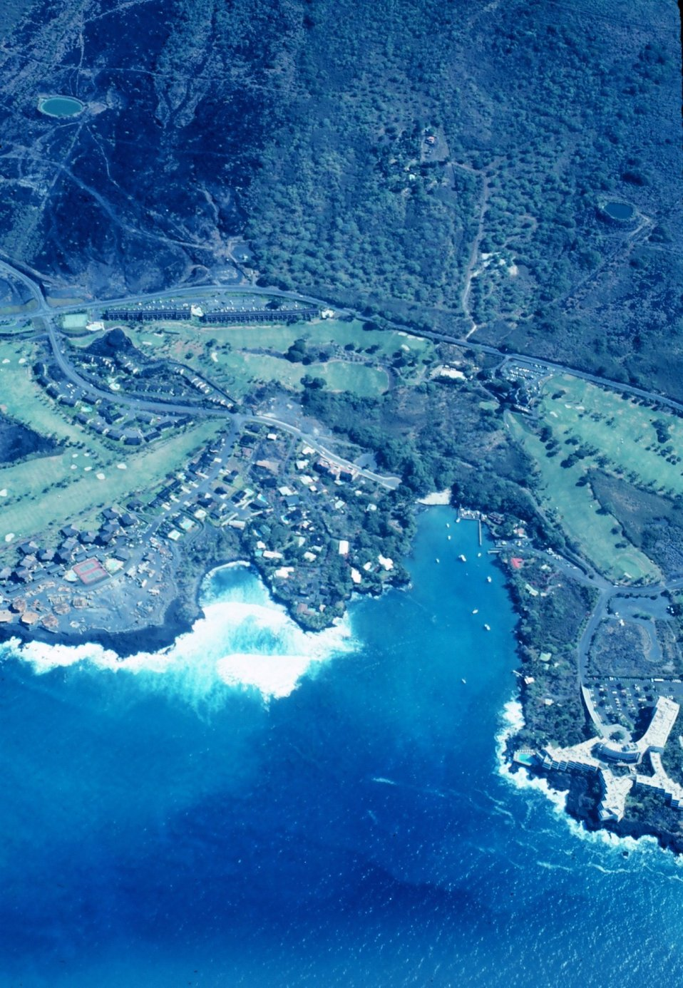 Flying over the Kona Coast