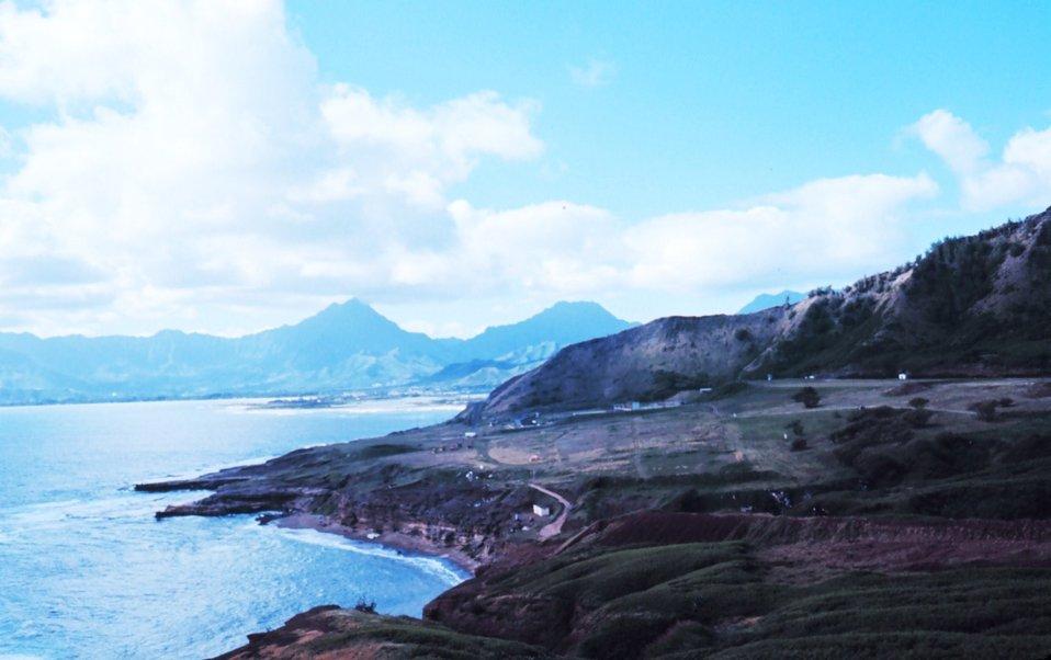 Hawaiian island coastline