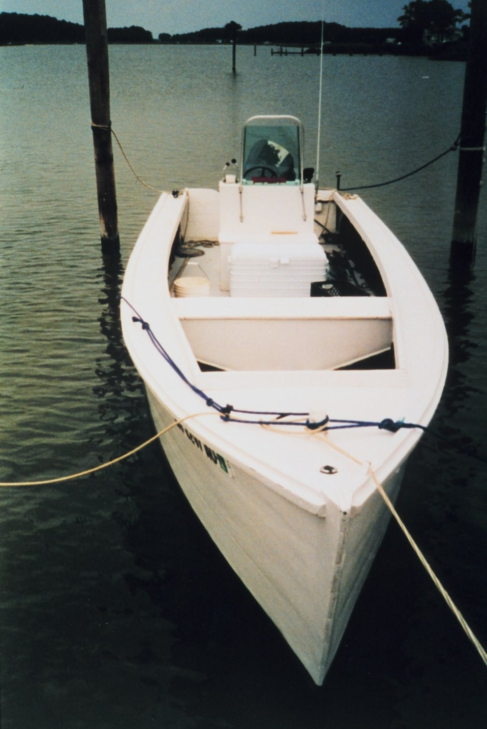 A typical 'home-made' skiff used by St. Mary's County watermen.