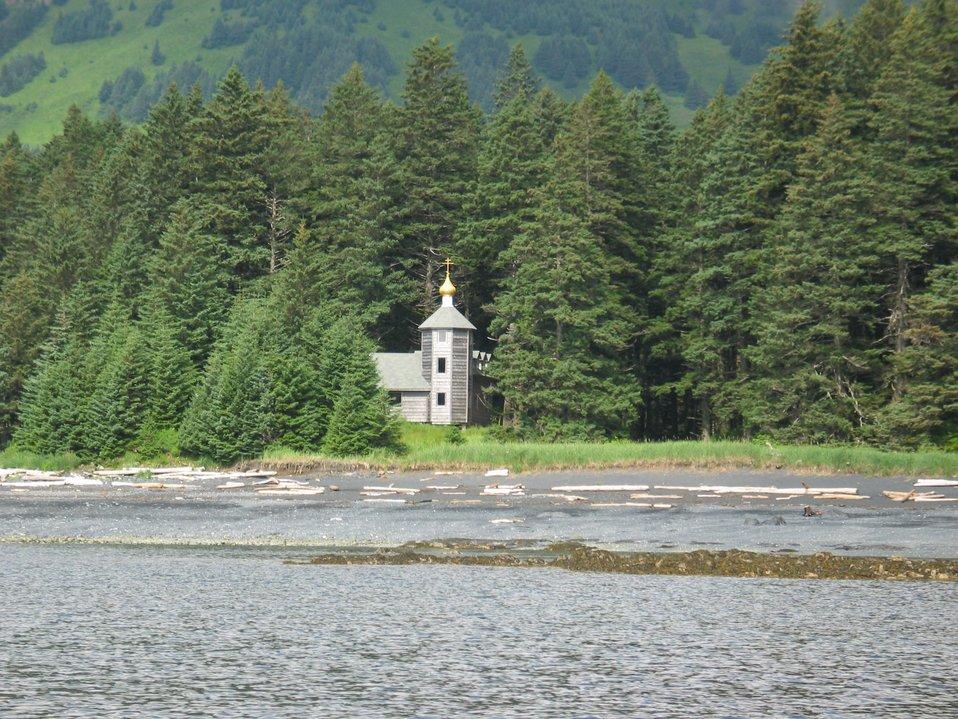 Russian Orthodox Church shrine ? at Monk's Lagoon