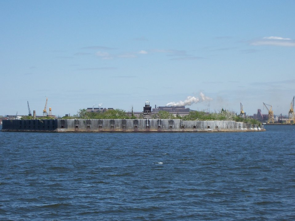 Fort Carroll Lighthouse in Baltimore Harbor.