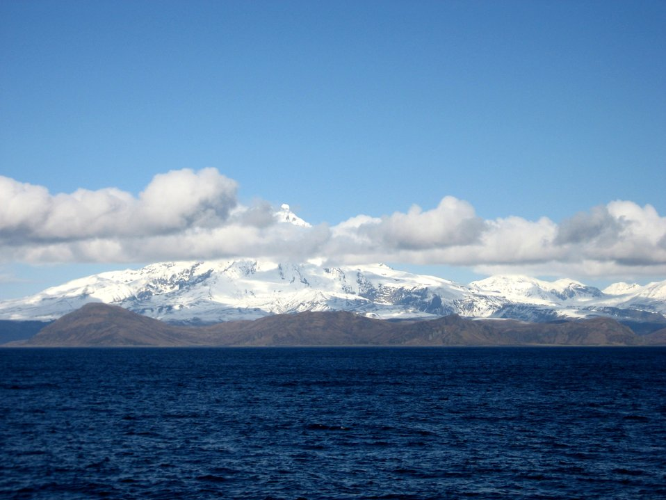 Shishaldin Volcano, one of the great navigational landmarks of Alaska.
