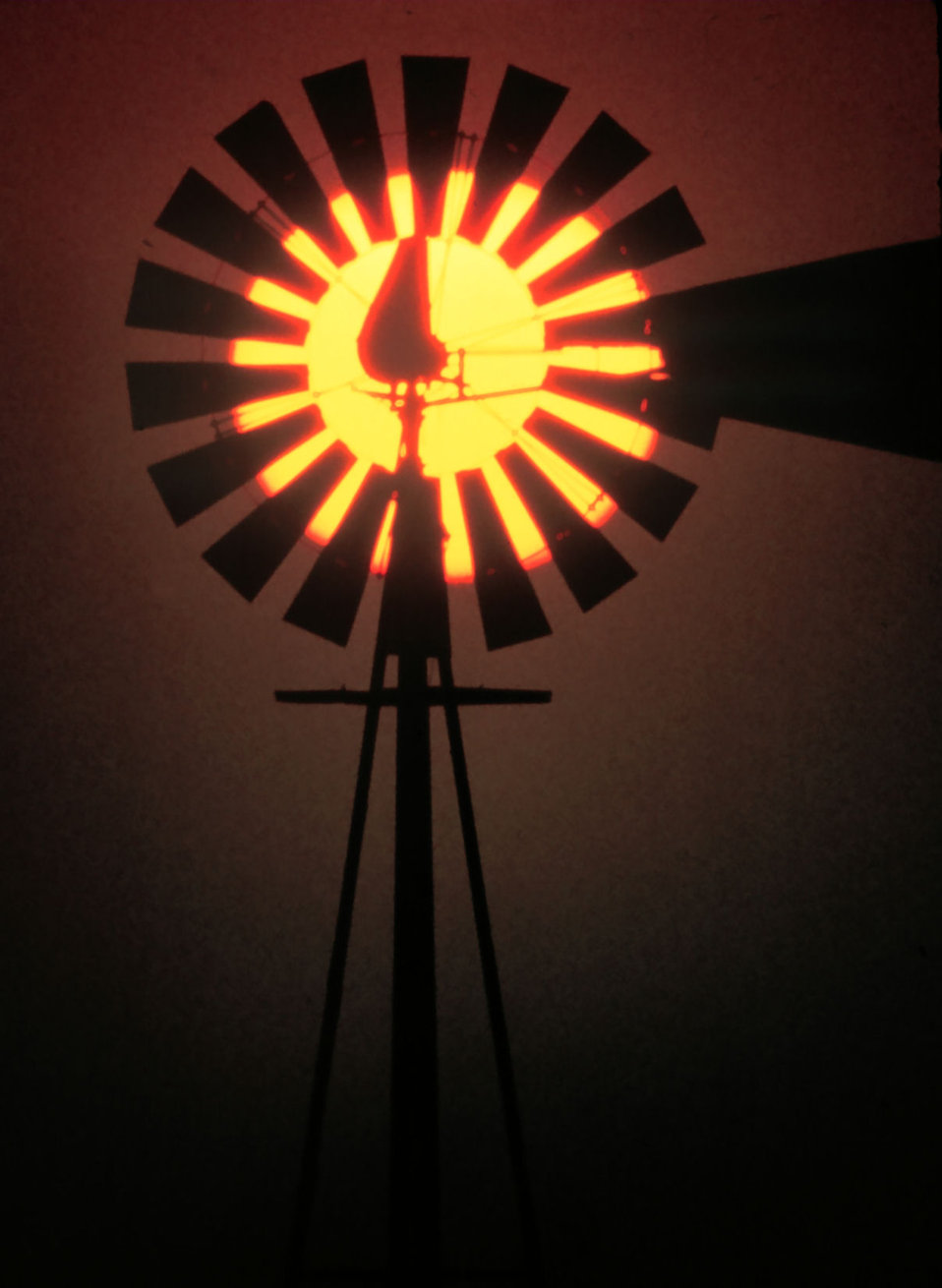 A windmill sunset