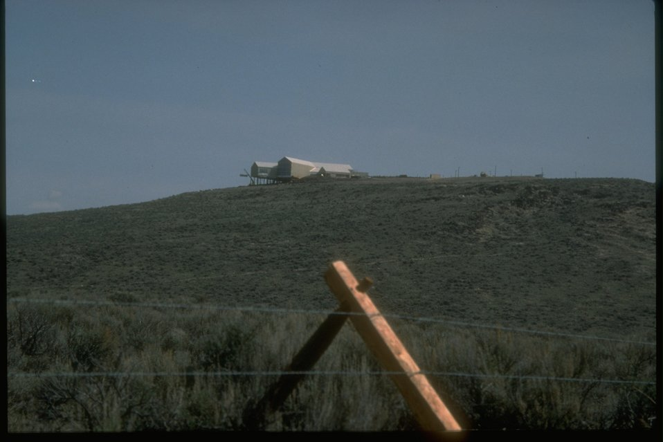 A distant view of the NHOTIC under construction outside of Baker, OR.