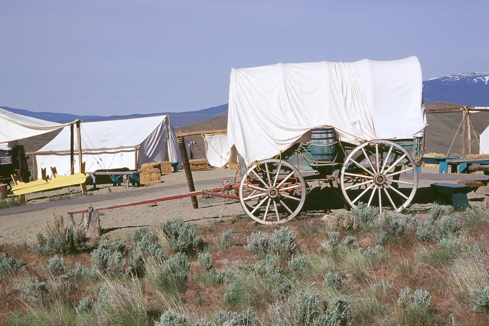 Encampment from wagon train reenactment. NHOTIC 10th Anniversary