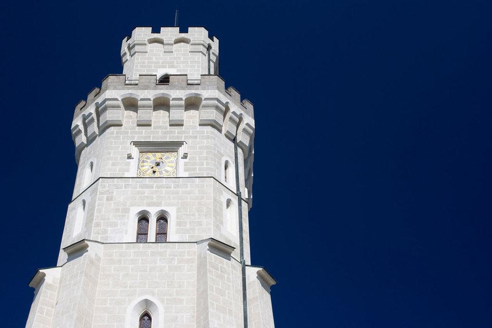 Hluboka castle tower