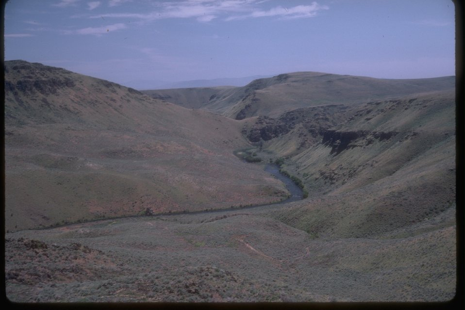 Scenic view into the Power River Canyon.