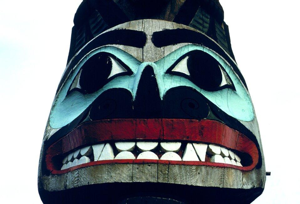 Totem pole Saxman Totem Park.