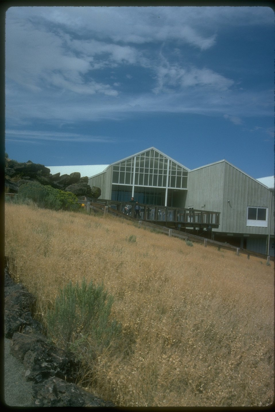The entrance of the Interpretive Center building from a distance.