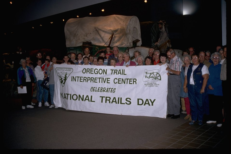 Trail Tenders celebrating the National Trails Day at the NHOTIC.