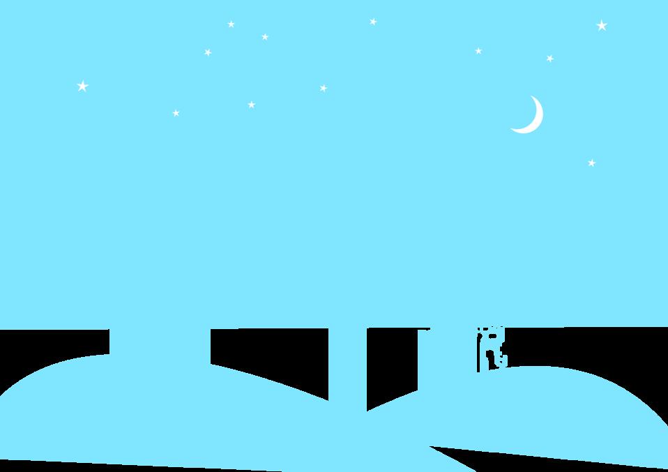 Night Cityscape Blue