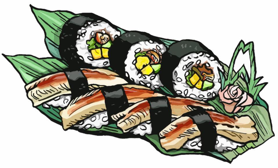 Sushi (sushi roll,conger eel)