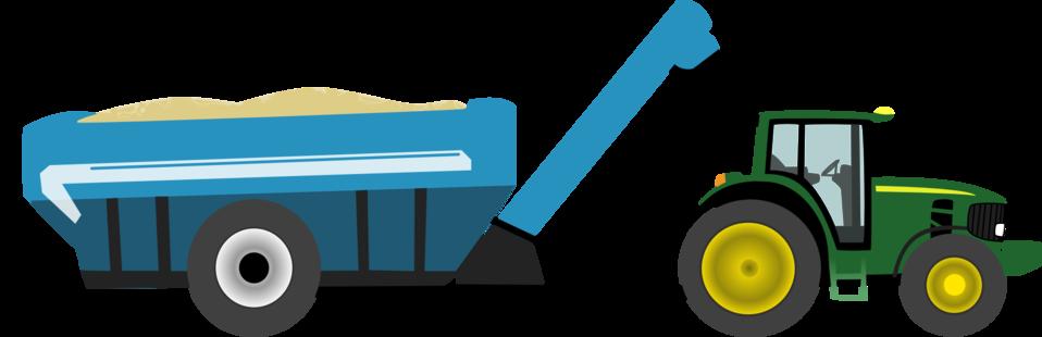 Farm tractor with grain cart