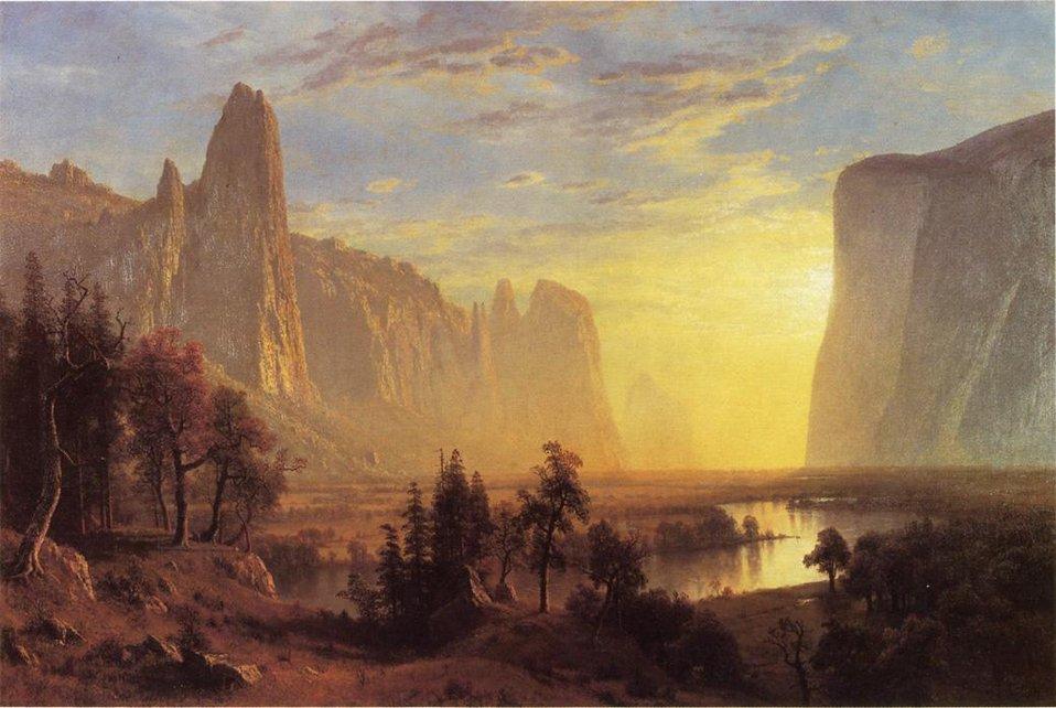 Bierstadt Albert Yosemite Valley Yellowstone Park.jpg
