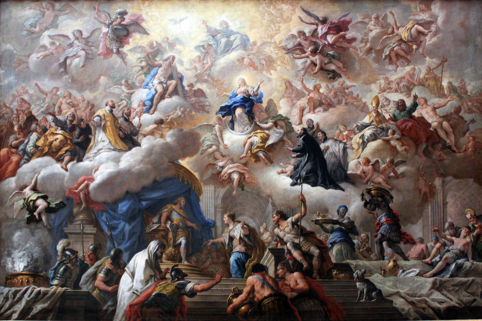 1710-15 de Matteis Triumph of the Immaculate anagoria.JPG