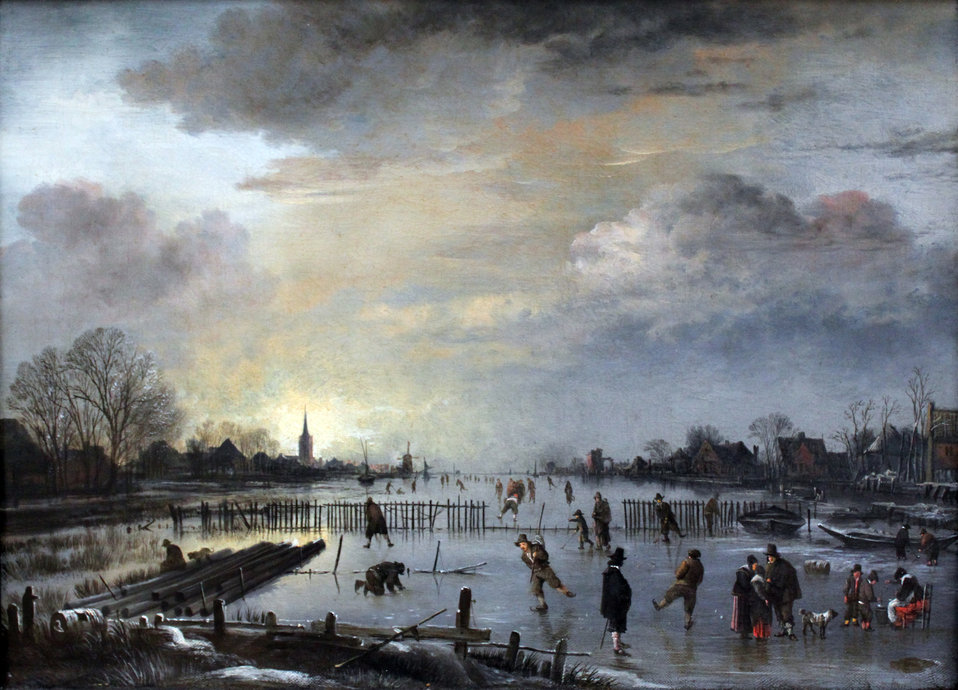 1658 van der Neer Winter Landscape with Skaters anagoria.JPG