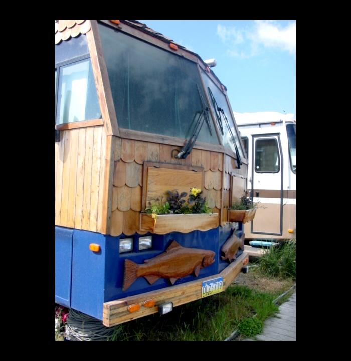 A motor home that has captured the spirit of coastal Alaska.