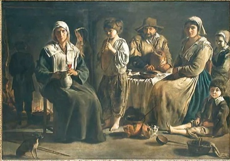 Antoine or Louis Le Nain - Peasant family in an interior - Louvre.jpg