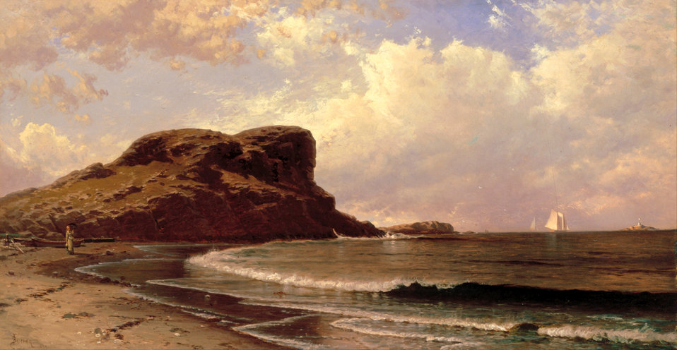 Alfred T. Bricher - Castle Rock, Nahant, Massachusetts - Google Art Project.jpg