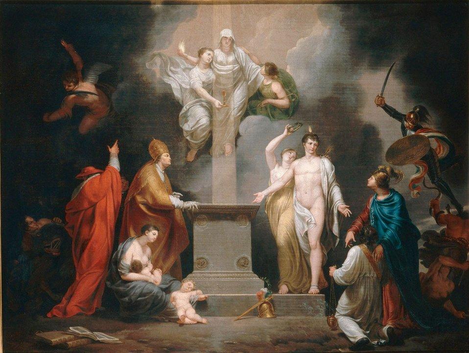 Français:  Allégorie du Concordat de 1801