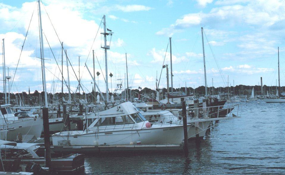Recreational fishing boats at Newport
