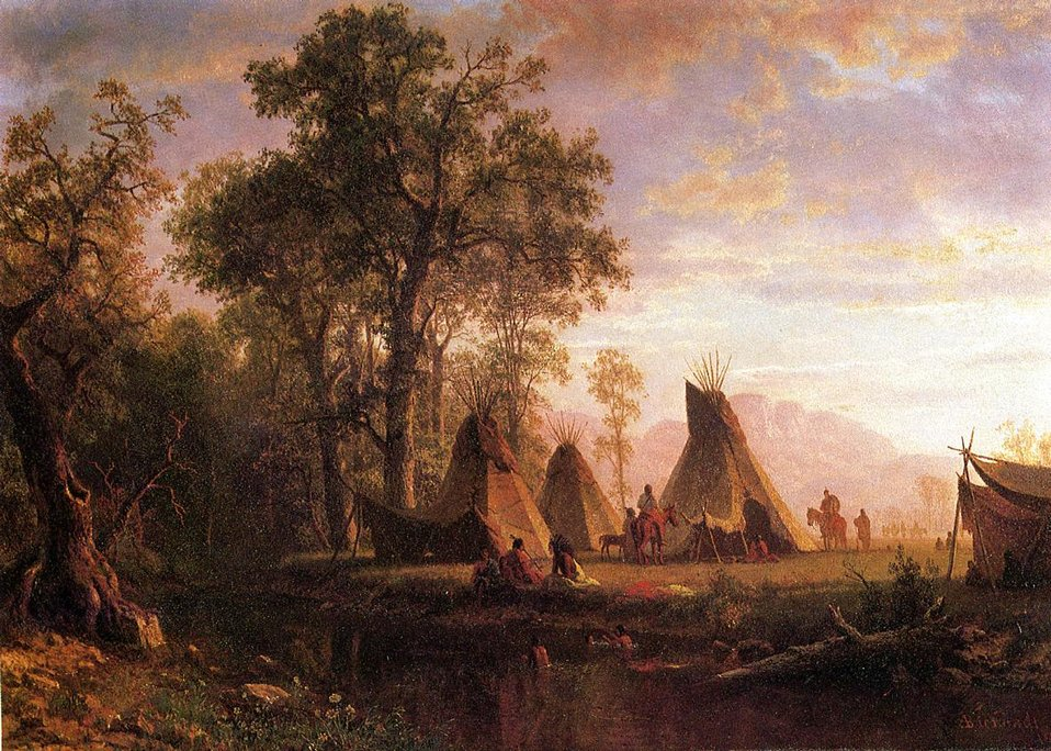 Bierstadt Albert Indian Encampment Late Afternoon.jpg