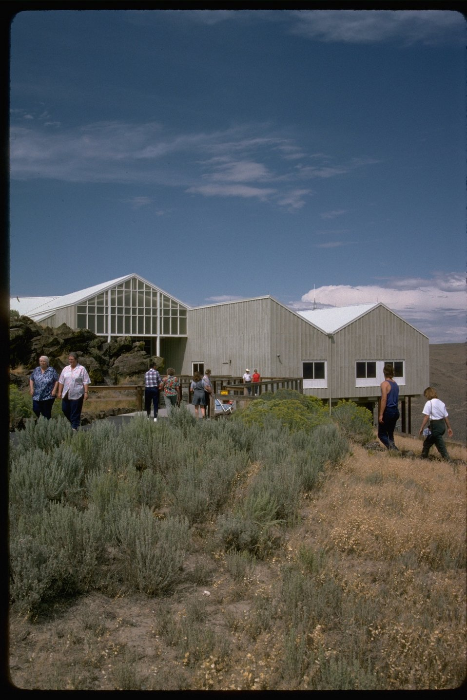 Exterior view of the National Historic Oregon Trail Interpretive Center.