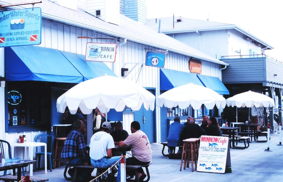 The Minnow Cafe serves fishermen and tourists