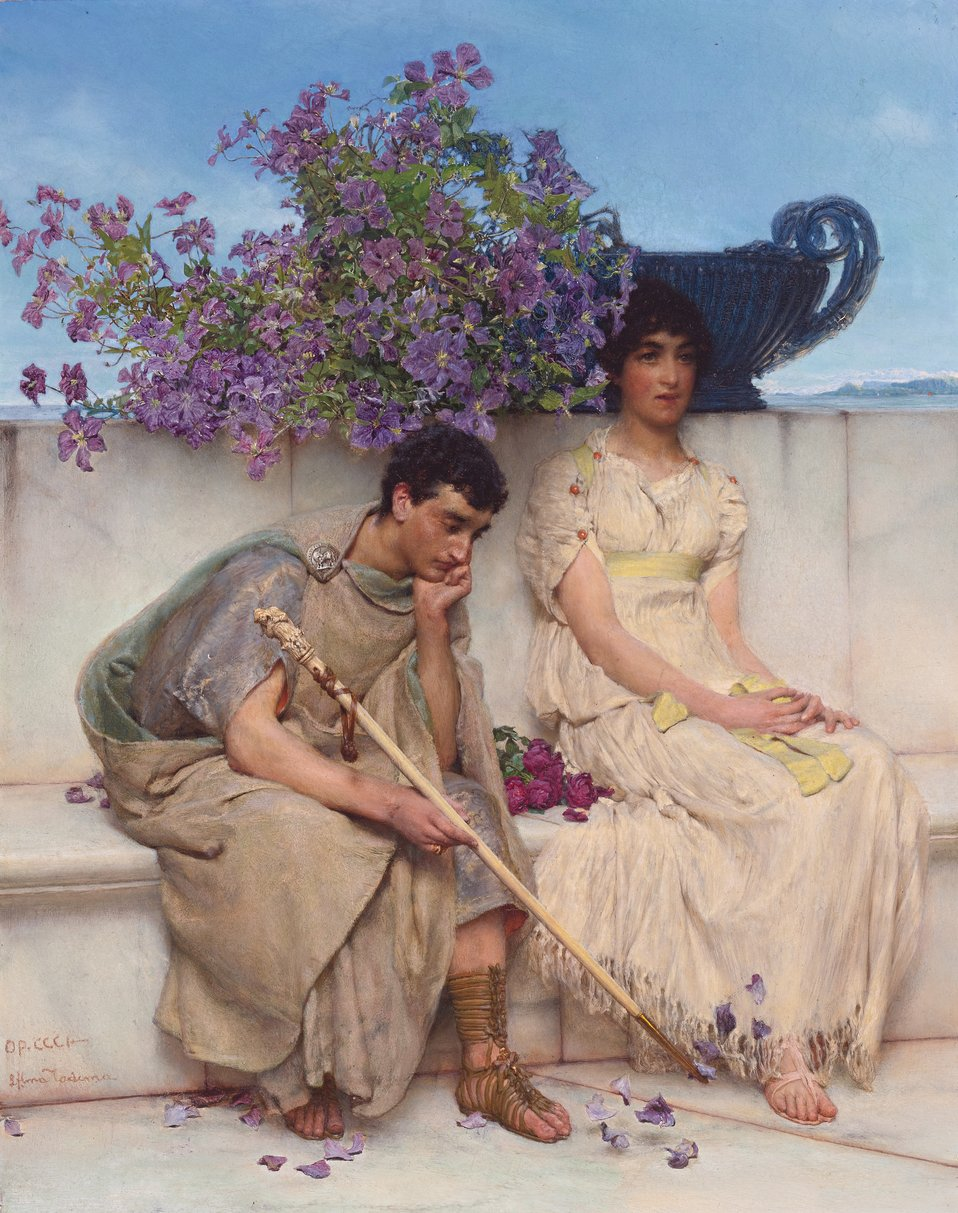 An eloquent silence, by Lawrence Alma-Tadema.jpg