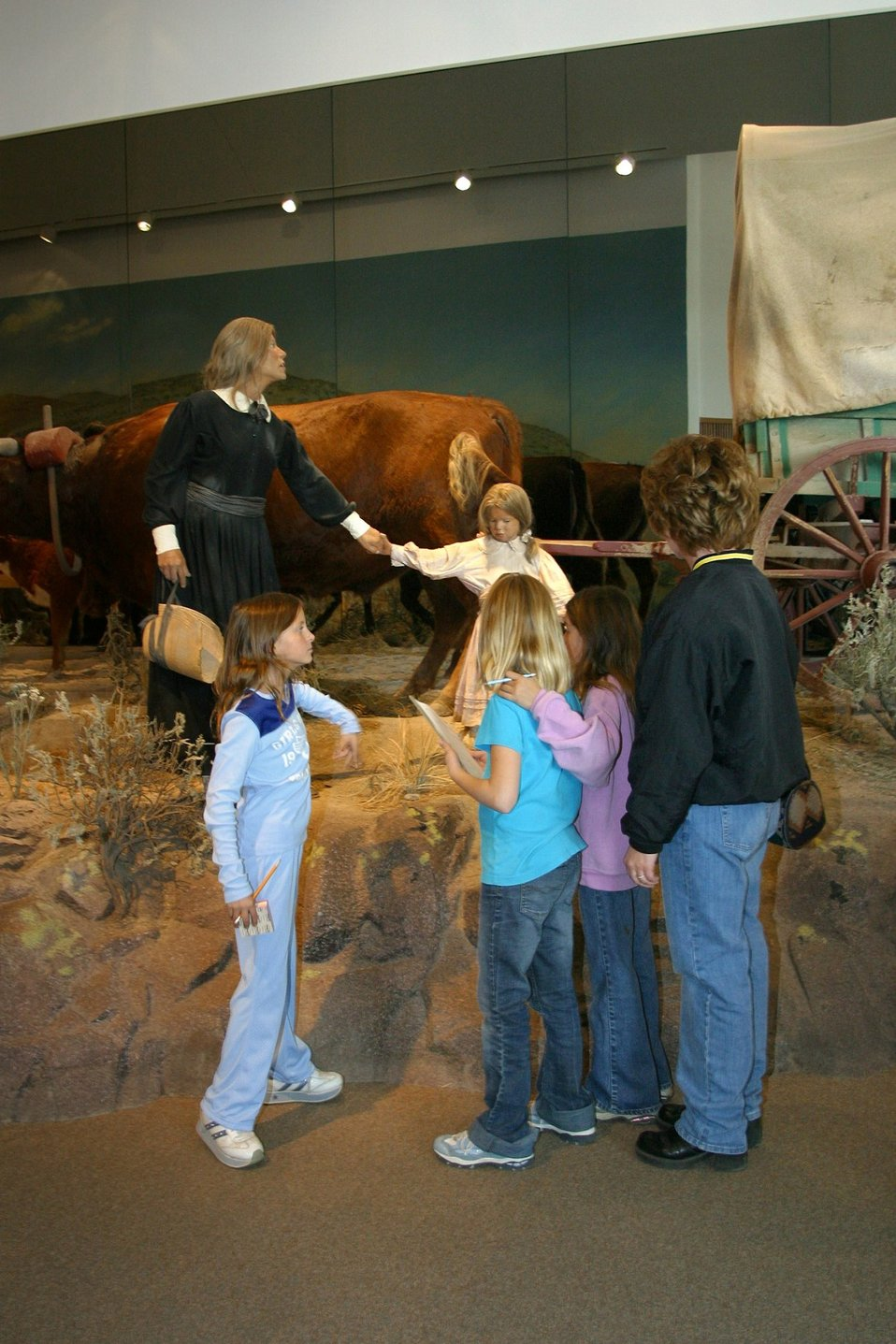 Hundreds of school children visit the National Historic Oregon Trail Interpretive Center every year.