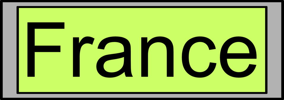 Digital Display with 'France' text