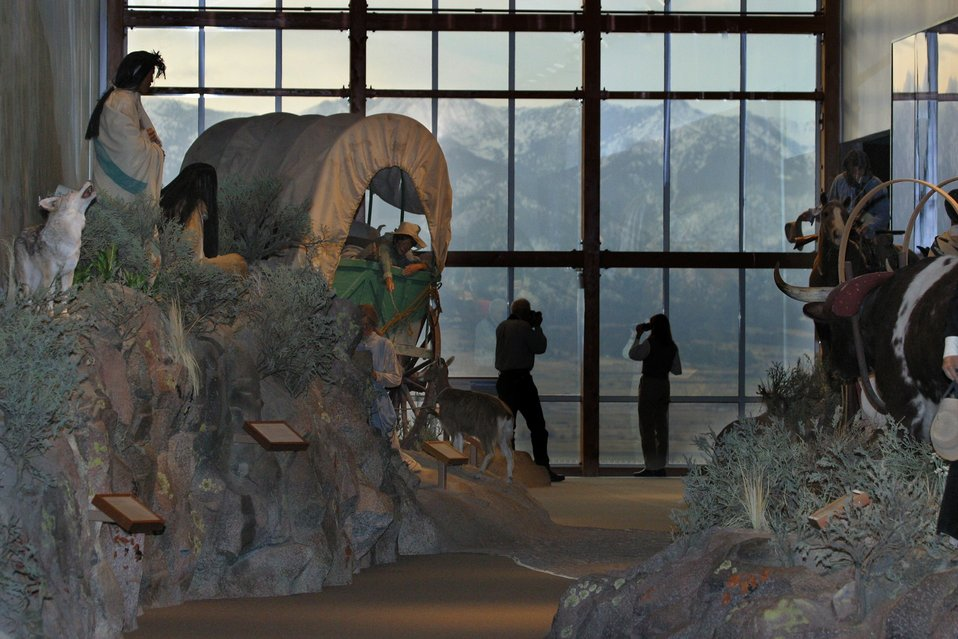 The Elkhorn Mountains can be seen from the Gallery window.