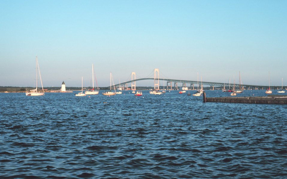 A view of the Newport Bridge