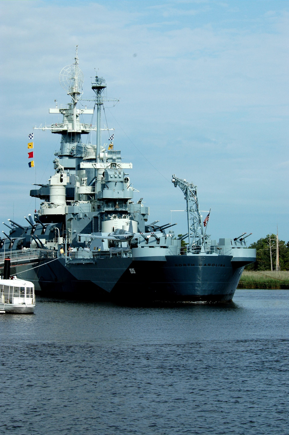 Battleship NORTH CAROLINA (BB55), a World War II era battleship that saw many heroic actions. The ship was decommissioned in 1947 and brought to Wilmington in 1961.