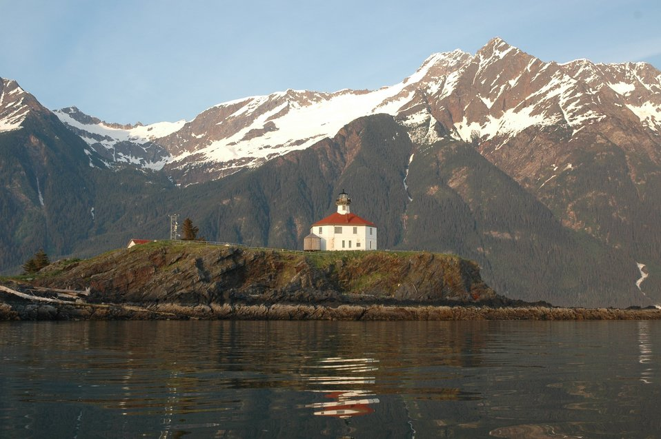 Eldred Rock Lighthouse in Lynn Canal.